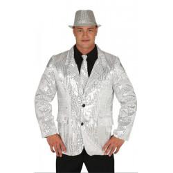 Déguisement veste disco argent sequins homme Déguisements 8820-