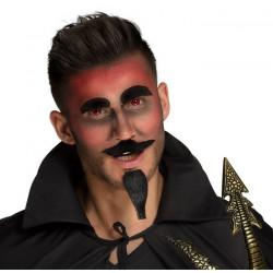 Set moustache, barbichette, sourcils diable Accessoires de fête 01852