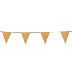 Guirlande fanions scintillante Or 6 m Déco festive 20000