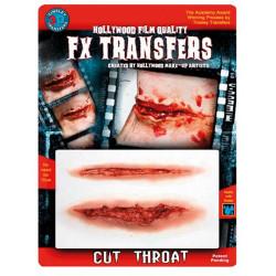 Transfert 3D gorge tranchée Accessoires de fête FXTM506