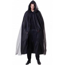 Cape démon noire avec capuche adulte Accessoires de fête H4119