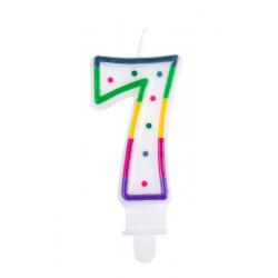 Bougie anniversaire chiffre 7 Déco festive 31067BO