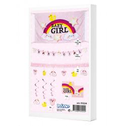 Kit déco festive baby shower fille Déco festive 53224