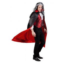 Cape vampire réversible rouge et noire adulte Accessoires de fête 96935
