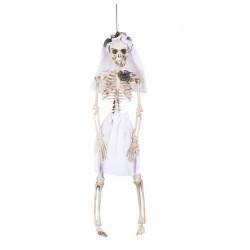 Décoration squelette mariée 40 cm à suspendre Déco festive 72089