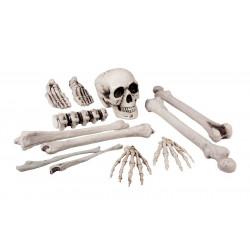 Set 12 pièces tête de mort et os Déco festive 72157