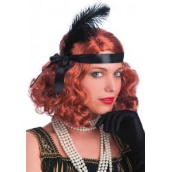 Perruque Layla cuivre avec plume Accessoires de fête 02448