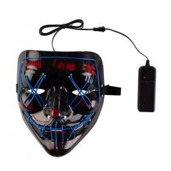 Masque horreur noir lumineux Accessoires de fête 00292
