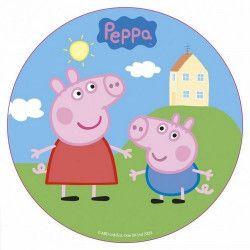 Disque en sucre Peppa Pig™ 16 cm Déco festive 231000
