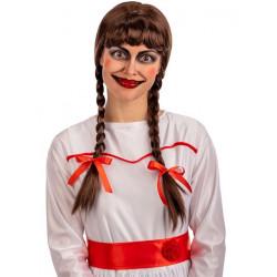 Perruque poupée maléfique avec tresses Accessoires de fête 02114
