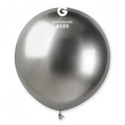 Sachet 1 ballon métallisé argent brillant 48 cm Déco festive BA19991/ARGENT