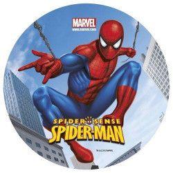 Disque en sucre Spiderman™ 16 cm Déco festive 231014
