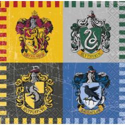 Serviettes 24 cm Harry Potter™ x 16 Déco festive U59101