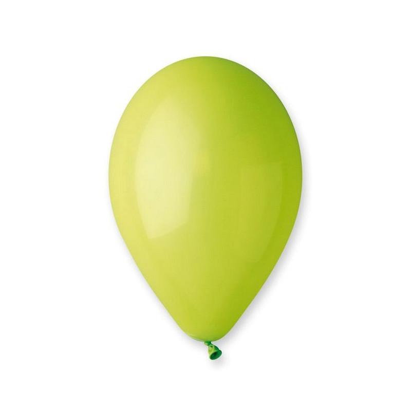 Sachet 12 ballons pastels 30 cm vert anis Déco festive BA19520/VERTANIS