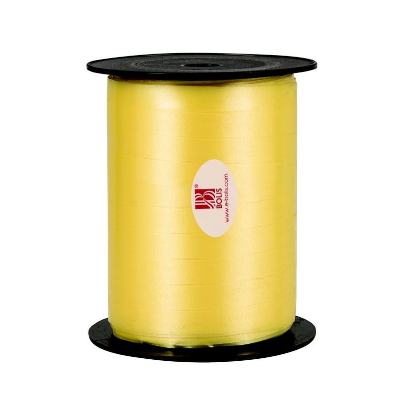 Bolduc ruban 7mmx500 m Jaune citron Déco festive 80010725022
