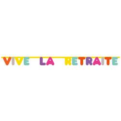 Guirlande Vive La Retraite 2 m Happy Colours Déco festive 04039MU