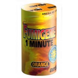 Tube fumigène 1 minute orange Divers 33035