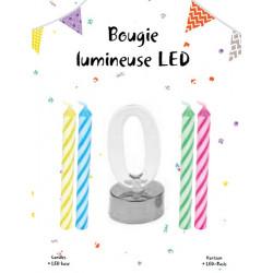 Bougie clignotante LED avec 4 bougies - Chiffre Déco festive 42450-