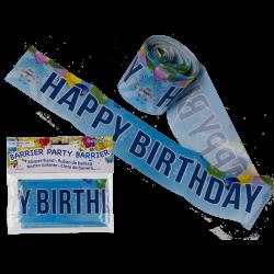 Ruban de balisage Happy Birthday 10 m Déco festive 620818