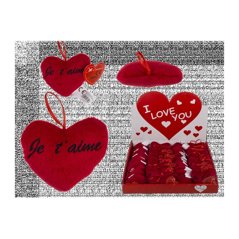 Peluche petit coeur rouge Je t'aime 10 cm Jouets et articles kermesse 626108