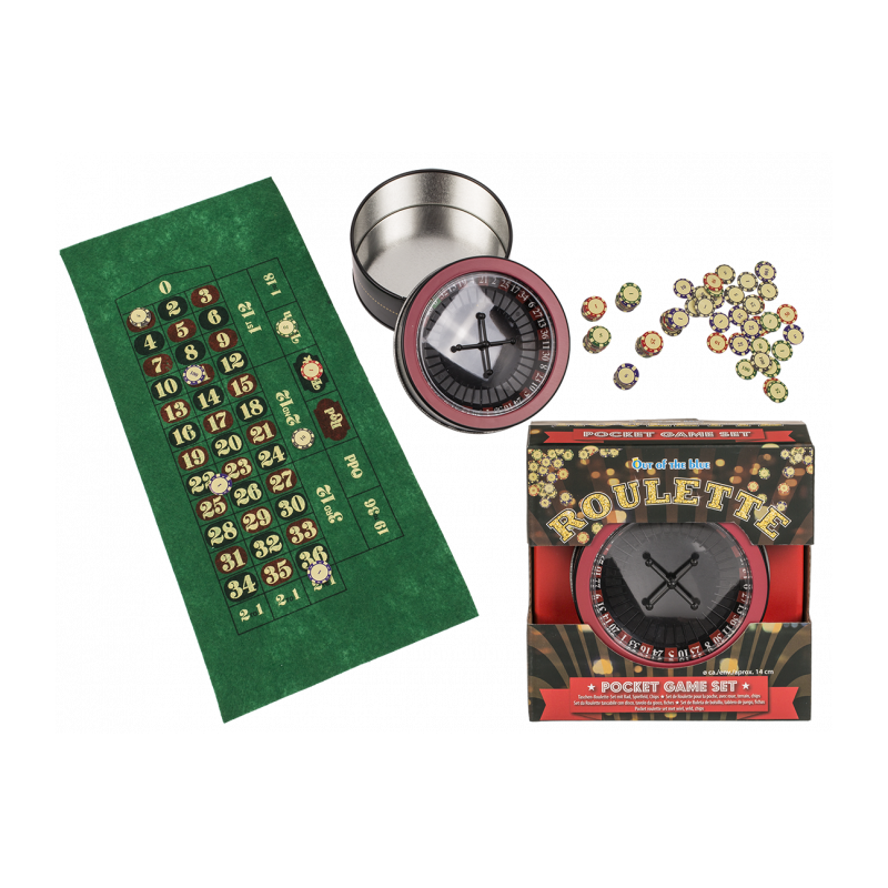 Set jeu de roulette de poche en plastique 14 cm Jouets et articles kermesse 793928