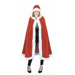 Cape Noël velours rouge adulte Déguisements 862503