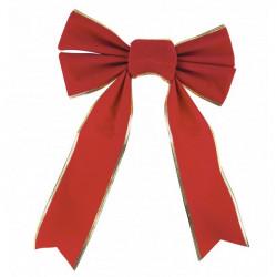 Noeud velours rouge et or 29 cm Déco festive 908281