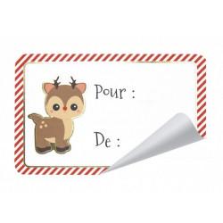 Etiquettes cadeaux adhésives Sweety Xmas x 12 Déco festive 913501B