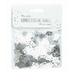 Confettis de table argent anniversaire chiffre 18 Déco festive 913318S