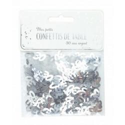 Confettis de table argent anniversaire chiffre 30 Déco festive 913330S