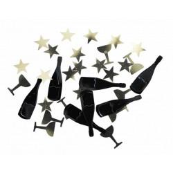 Confettis de table métallisés nouvel an Déco festive 913352
