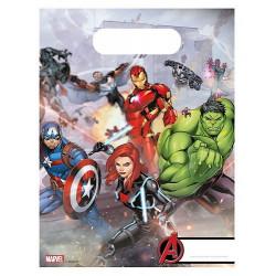 Sachets anniversaire Mighty Avengers ™ x 6 Déco festive LAVE87969