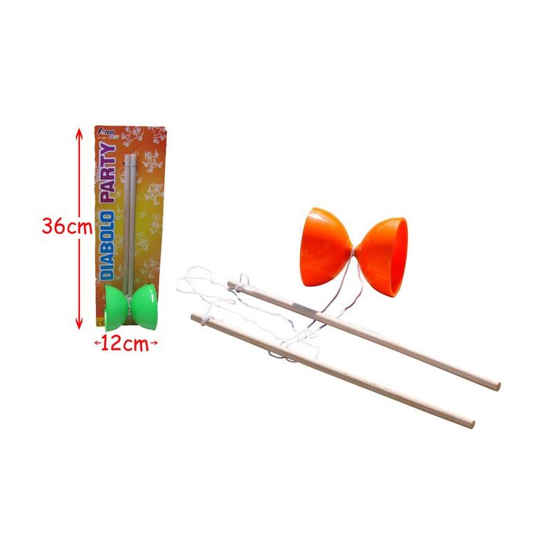 Diabolo 30 cm en plastique avec manches en bois Jouets et articles kermesse 14375