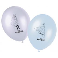 Ballons imprimés La Reine des Neiges 2™ x 8 Déco festive LFRZ91133