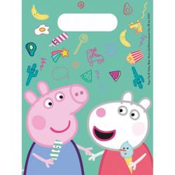 Sacs cadeaux Peppa Pig™ x 6 Déco festive LPIG91102