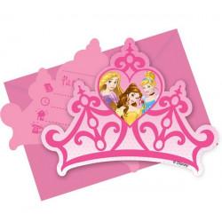 Cartes invitation anniversaire Princesse Dreaming x 6 Déco festive LPRI85006