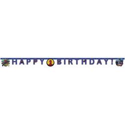 Guirlande Happy Birthday Spiderman Team Up Déco festive LSPI89454