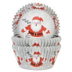 Caissettes à cupcakes House of Marie Père Noël x 50 Cake Design HM5249