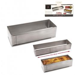 Cadre à cake inox extensible 23 à 40 cm Cake Design KC2220