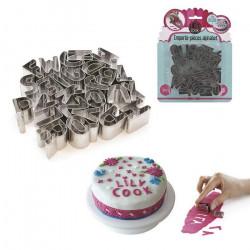 Emporte-pièce inox alphabet 26 lettres Cake Design KP5130