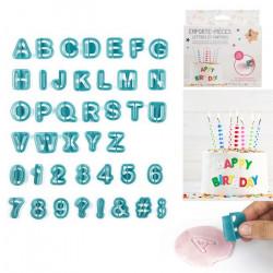 Emporte-pièces lettres et chiffres plastique Cake Design KP5526