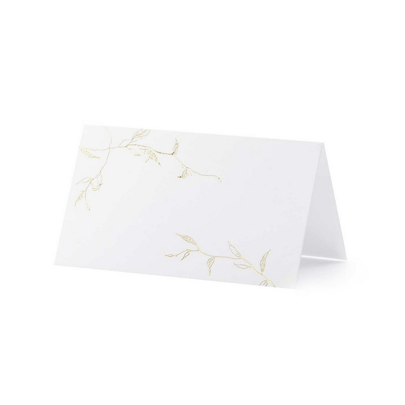 Marque place x 10 avec feuilles dorées 9.5 cm Déco festive WS9-019ME