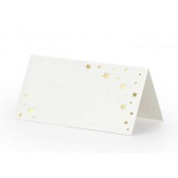 Marque place x 10 avec étoiles dorées 9.5 cm Déco festive WS48-008