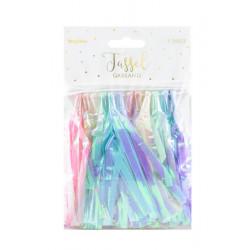 Guirlande mini tassels pastel multicolore irisé 1.2m Déco festive TGA1-000