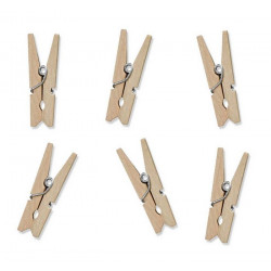 Pinces à linge bois 3 cm x 20 Déco festive KLD-100