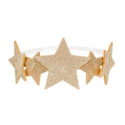 Bandeau princesse avec étoiles dorées Accessoires de fête STD3-019