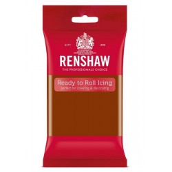 Pâte à sucre Pro Renshaw 250 g marron foncé Cake Design R02931