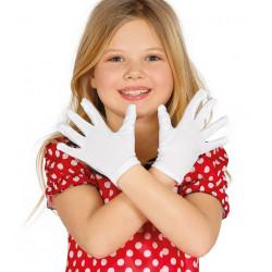 Paire de gants blancs petite taille Accessoires de fête 16520