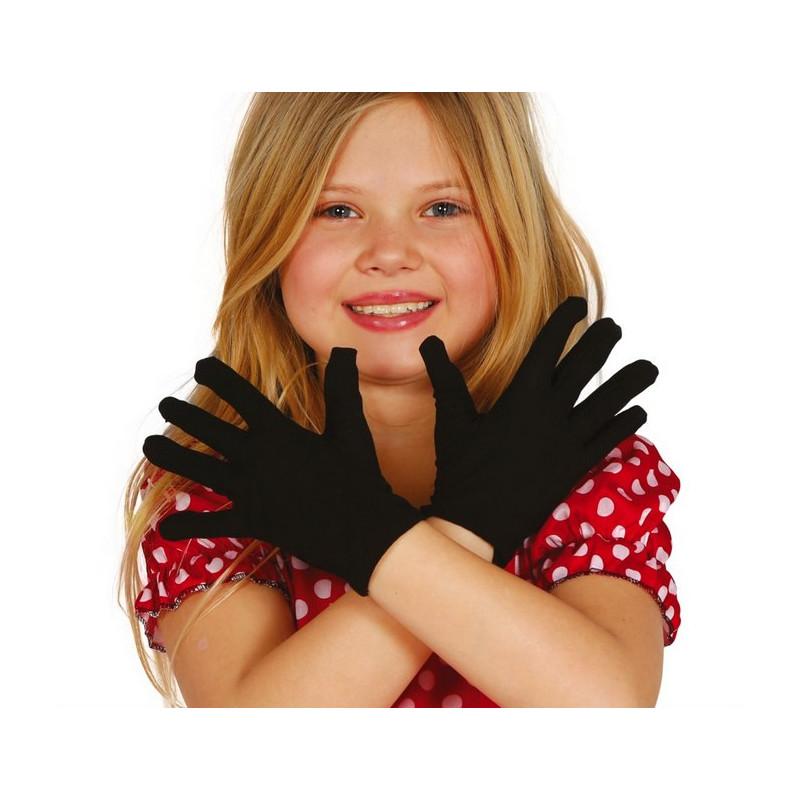 Gants noirs enfant Accessoires de fête 18542