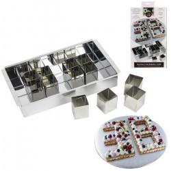 Moule number cake 12 cubes inox Cake Design KP5523